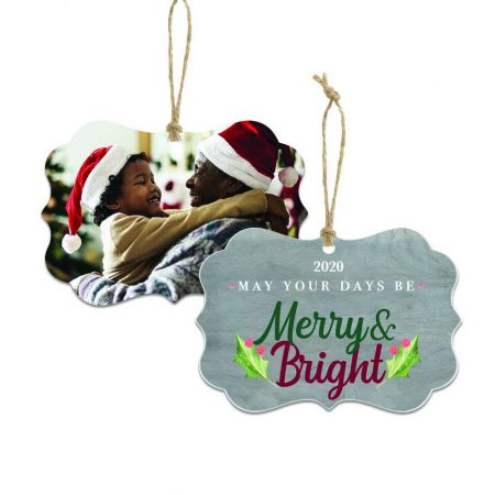 Merry & Bright Brandywine Metal Ornament - Holly
