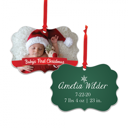 Baby's First Christmas Brandywine Metal Ornament - Newborn