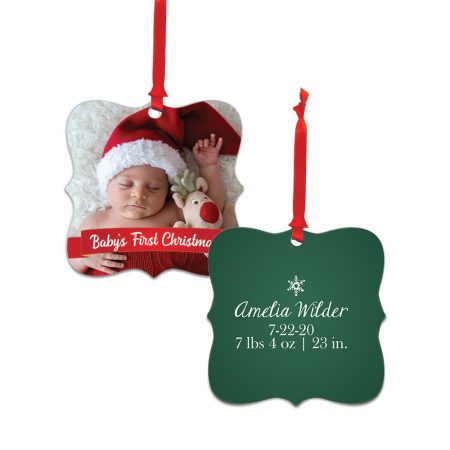 Baby's First Christmas Dayton Metal Ornament - Newborn