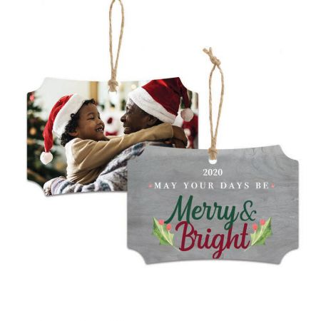 Merry & Bright Franklin Metal Ornament - Holly