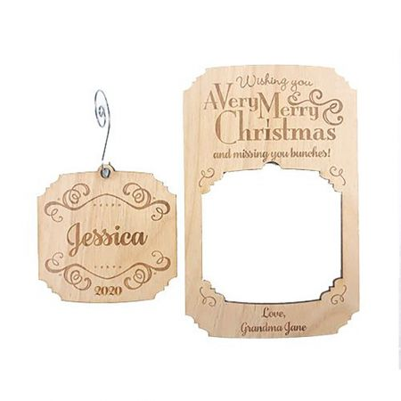 Merry Christmas Wood Pop-out Ornament Card