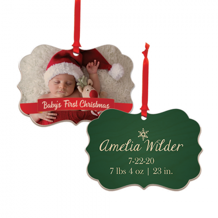 Baby's First Christmas Brandywine Wood Ornament - Newborn