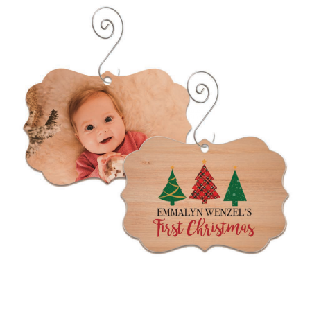First Christmas Brandywine Wood Ornament - Trees
