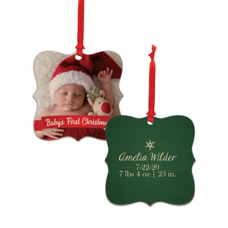 Baby's First Christmas Dayton Wood Ornament - Newborn