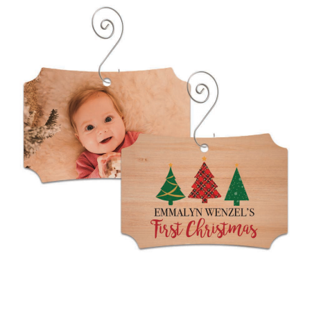 First Christmas Franklin Wood Ornament - Trees