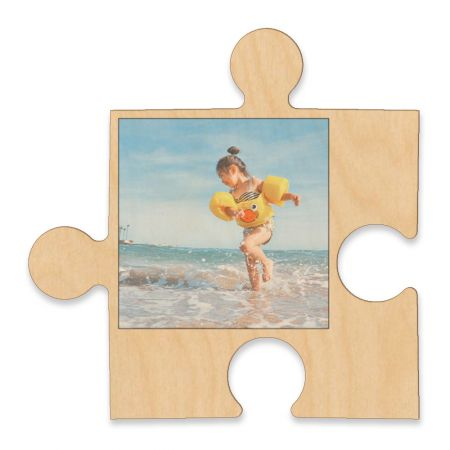 20-Inch Wood Photo Puzzle Piece - A
