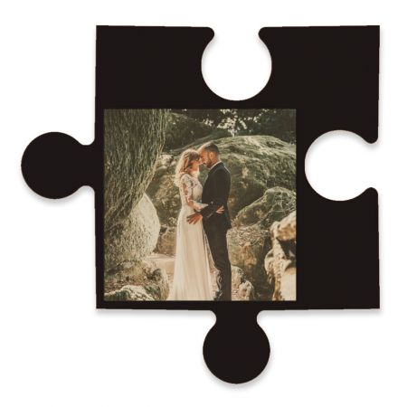20-Inch Wood Photo Puzzle Piece - B
