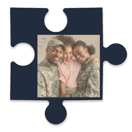 20-Inch Wood Photo Puzzle Piece - C