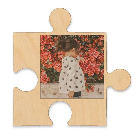 20-Inch Wood Photo Puzzle Piece - D