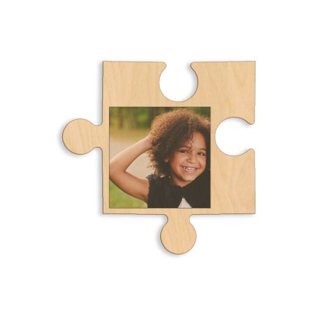 12-Inch Wood Photo Puzzle Piece - B