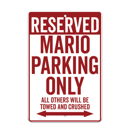 8x12 Reserved Parking Road Sign