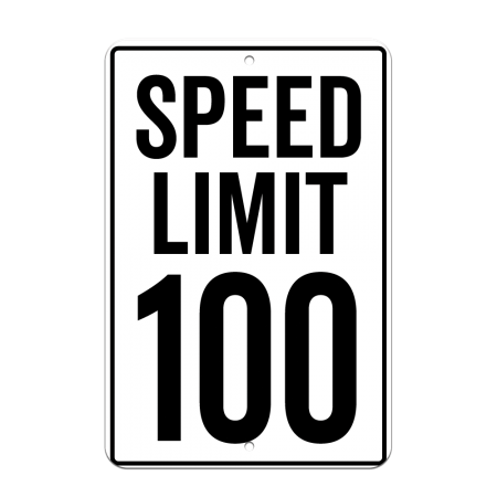 8x12 Speed Limit Road Sign