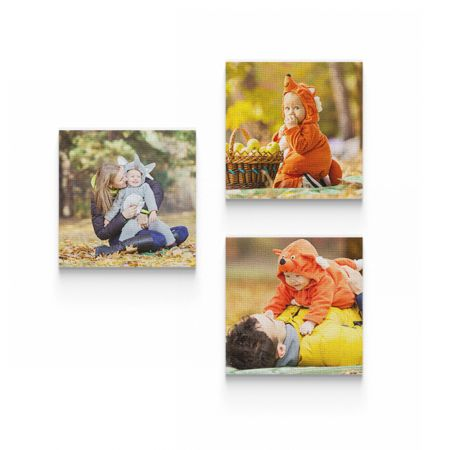 Three 12x12 Canvas Wrapped Prints
