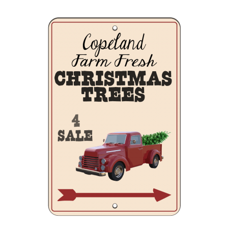 8x12 Christmas Trees Road Sign