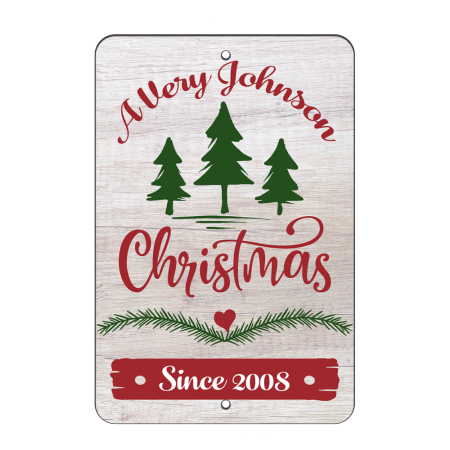 8x12 Very Rustic Christmas Road Sign