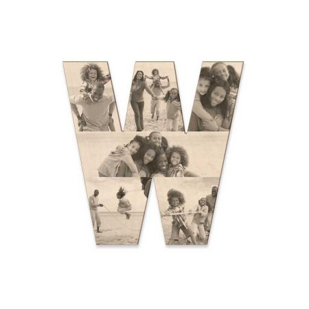 12-Inch Wood Photo Letter - W